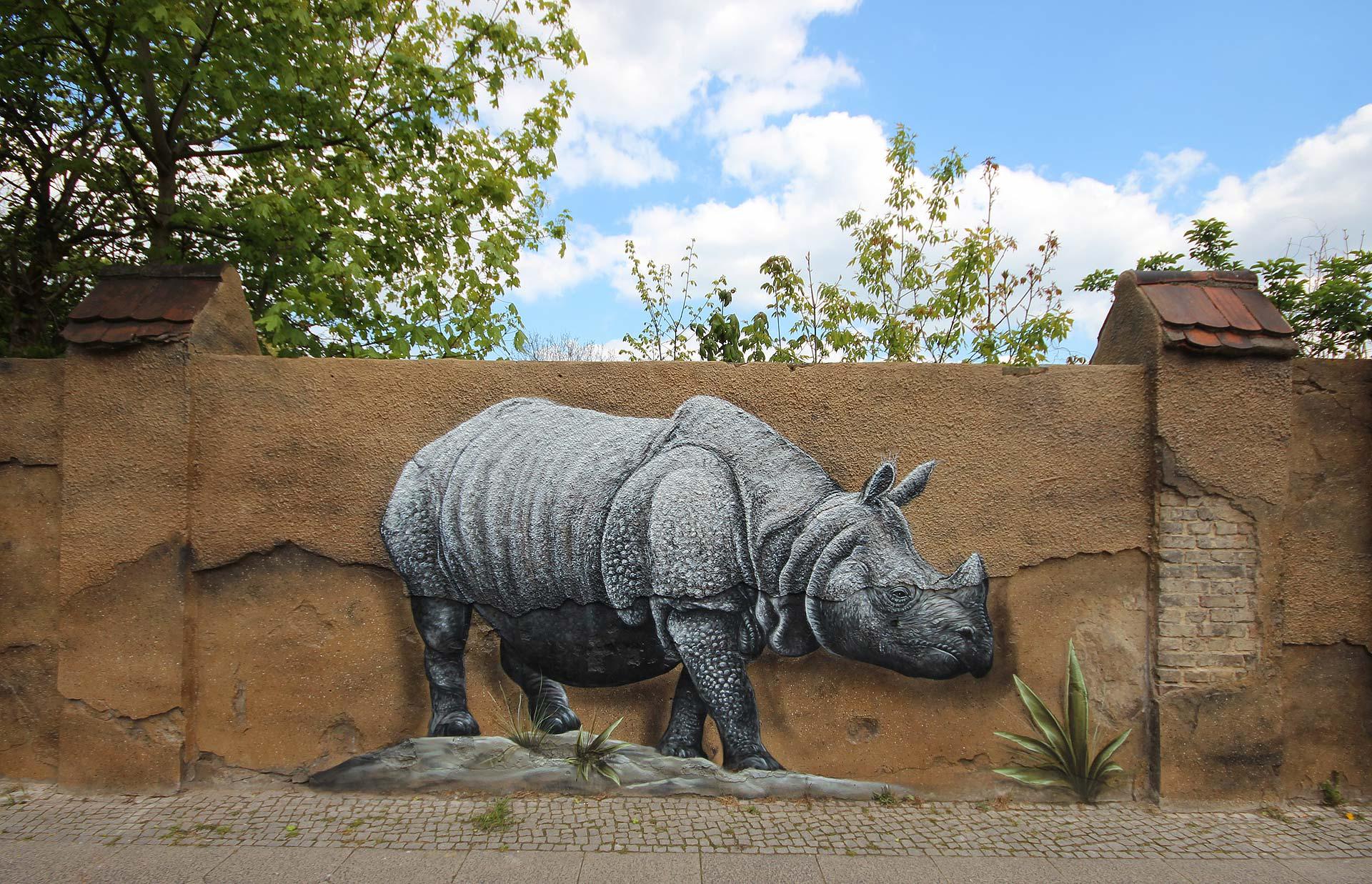 Aussenmauer Tierpark Berlin