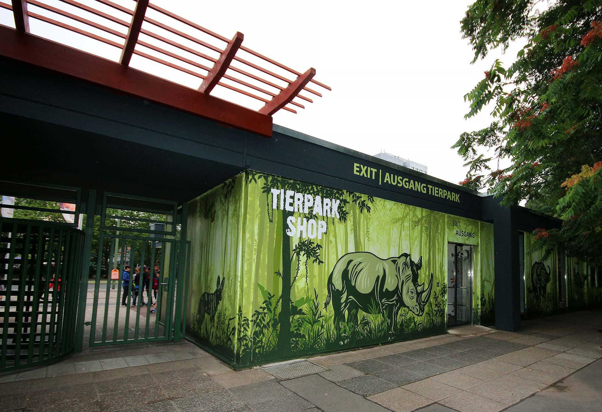 Haupteingang Bärenschaufenster Tierpark Berlin