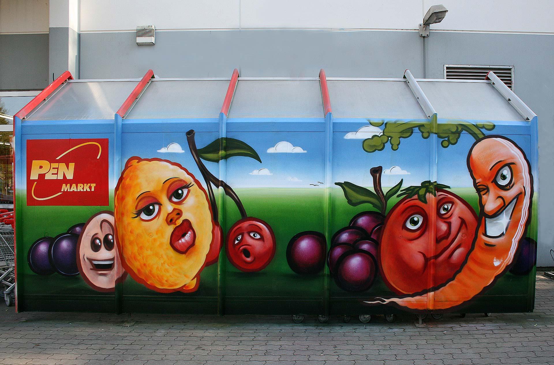 Einkaufswagenbox