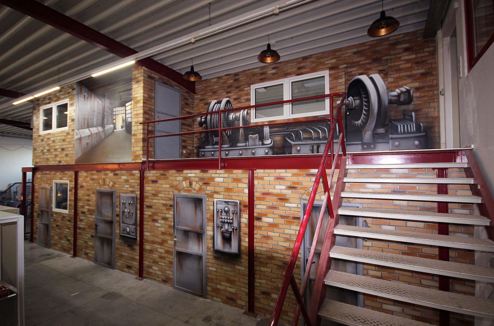 Wandgestaltung Betrieb für Elektroanlagen